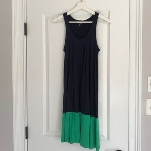 The Webster Miami navy & green block color dress